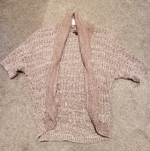 Express Sweaters - Light brown and white sweater